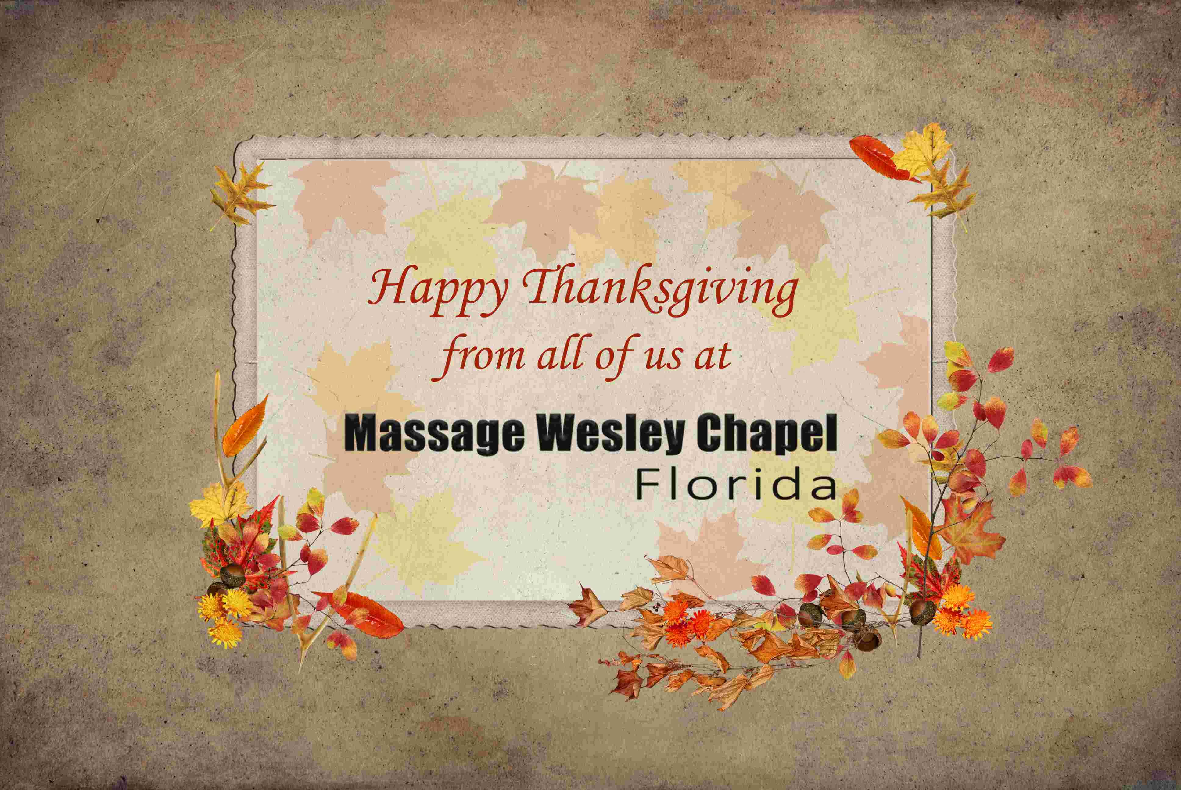 happy thanks giving massage